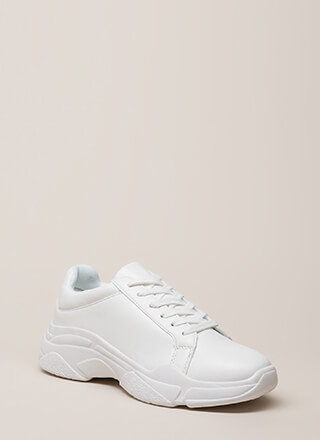 Run Don't Walk Platform Sneakers