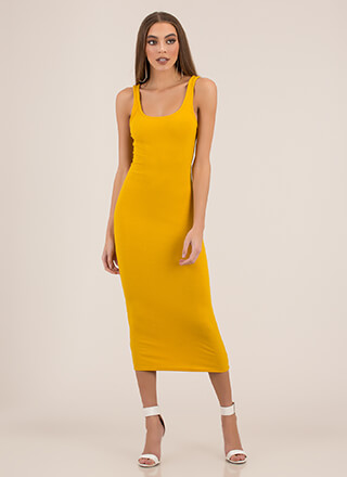 Tanks For Everything Rib Knit Maxi Dress