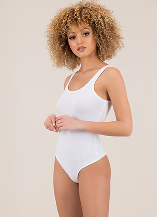 Wear Me Out Rib Knit Thong Bodysuit