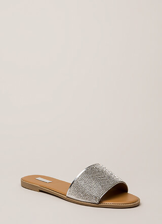 Something Sparkly Jeweled Slide Sandals