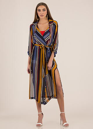 Striped Sensation Double Slit Duster