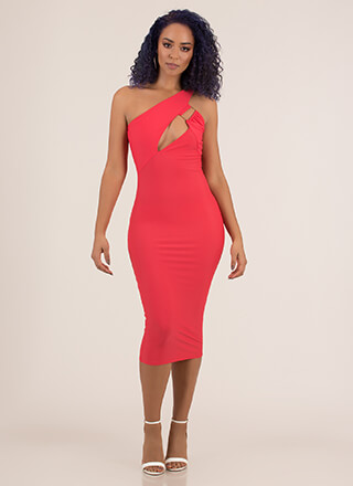 Feeling Sexy Asymmetrical Cut-Out Dress