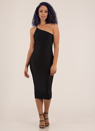 Definitely Knot Basic Asymmetrical Dress