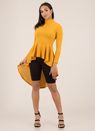 Do It Right High-Low Peplum Top