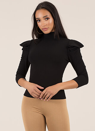 Heart On My Sleeve Shoulder Accent Top