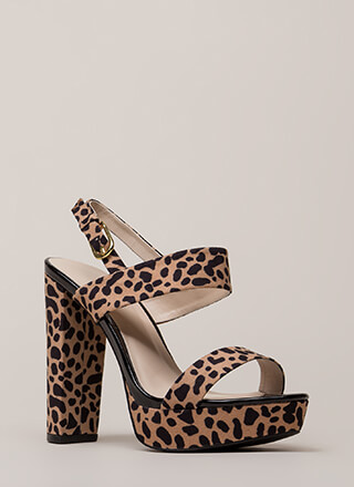 Dearly Beloved Spotted Platform Heels