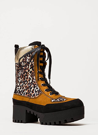 Powerful Platform Combat Boots