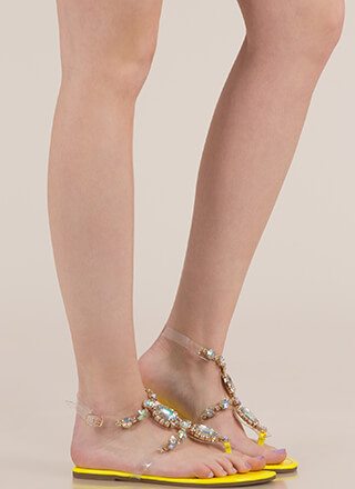I Rule The Gem-pire Faux Jewel Sandals