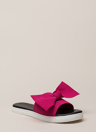 I Like Big Bows Platform Slide Sandals