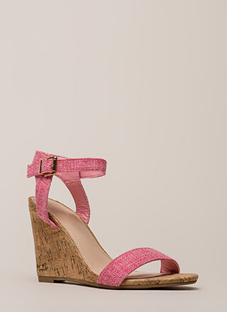 Out And About Tweed And Cork Wedges