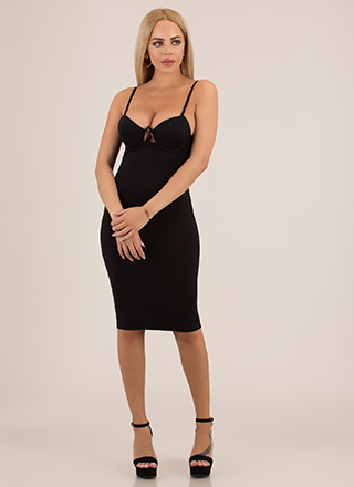 You're So Busted Underwire Midi Dress