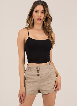 Yes Frills Ruffled Buttoned Shorts