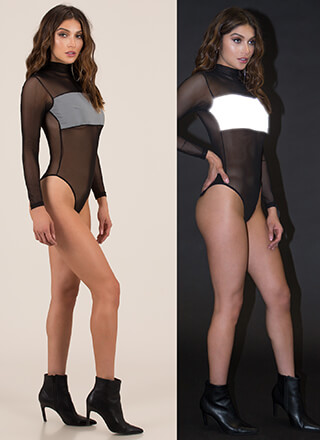 Flash Mob Reflective Mesh Bodysuit