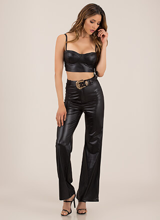 The Wild West Faux Leather 2-Piece Set
