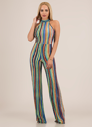 Hot Streak Striped Palazzo Jumpsuit