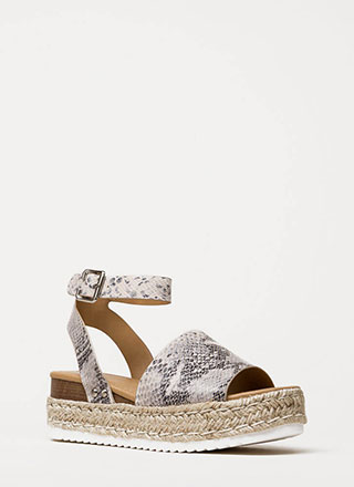 Vacation Time Snake Print Wedge Sandals 925a562f2