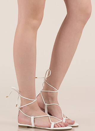 Pretty Pedicure Lace-Up Sandals