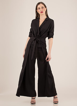 Avant-Garde Super Wide Blazer Jumpsuit