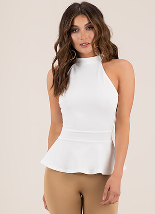 Peplum Perfection Sleeveless Top