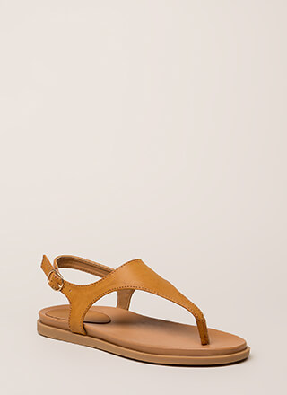 On Vacation T-Strap Thong Sandals