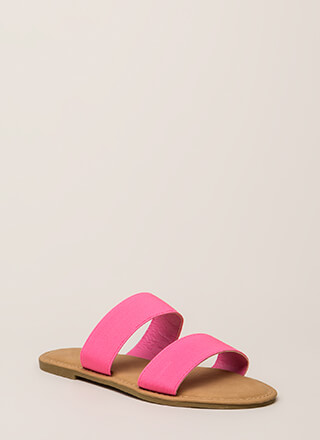Making The Bands Strappy Slide Sandals
