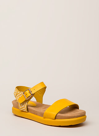 Let's Go Away Platform Sandals