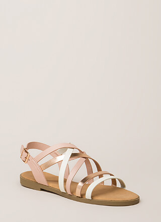 Your Feet Will Shine Strappy Sandals