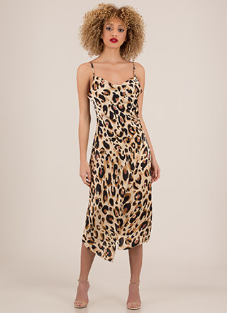 Wild About You Leopard Slip Dress