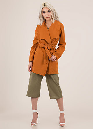 Weather Or Not Tied Trench Coat