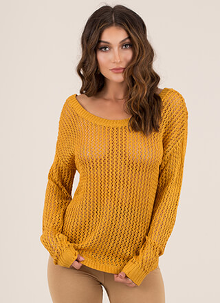 Something Sexy Strappy Back Knit Sweater