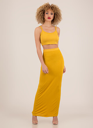 Good Match Ribbed 2-Piece Maxi Dress