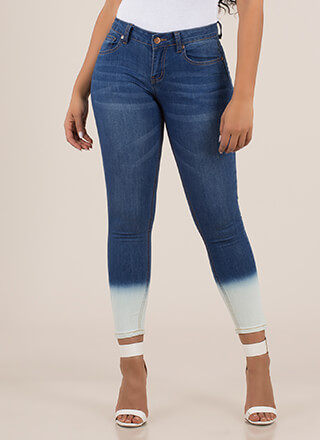 Make It Dip-Dyed Bleached Skinny Jeans