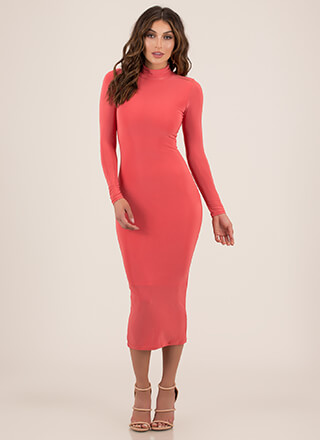 Curves For Days Turtleneck Midi Dress
