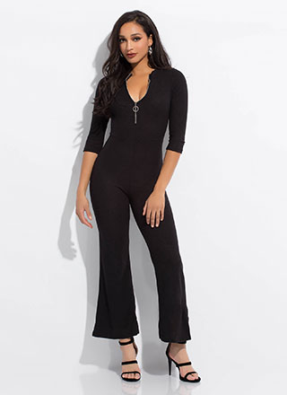Easy Like Sunday Zip-Front Jumpsuit