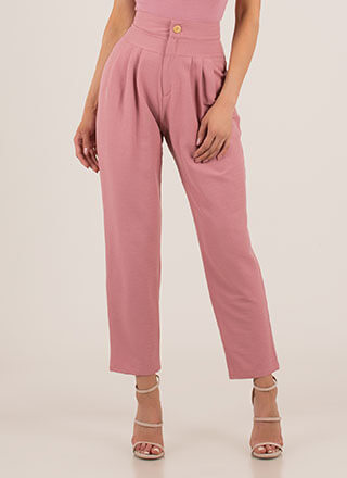 Too Chic High-Waisted Trousers