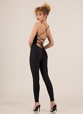 Laces Wild Strappy Back Jumpsuit