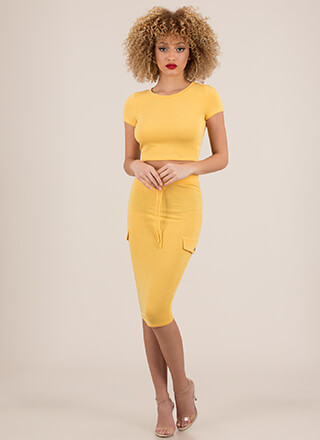 Casual Relationship Top And Skirt Set