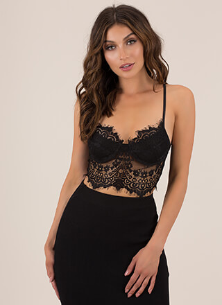 The Amazing Lace Bustier Crop Top