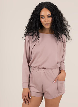Let's Just Chill Sweatshirt Romper