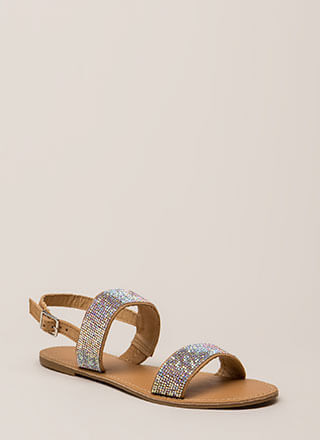 Full Of Sparkle Strappy Jeweled Sandals