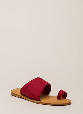 Sun's Out Toes Out Faux Suede Sandals