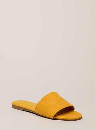 Zest For Life Faux Suede Slide Sandals