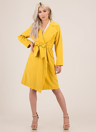 Jetsetter Style Belted Trench Coat