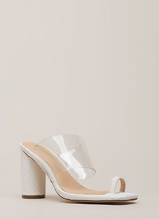 Clear Conscience Chunky Illusion Heels