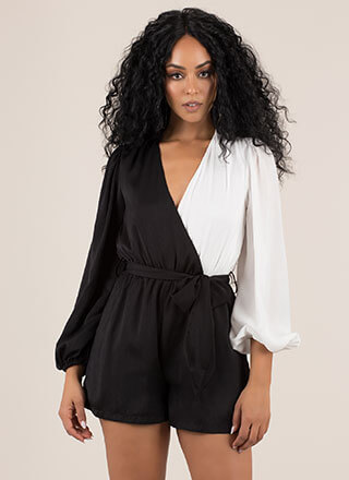 There's Two Sides Colorblock Romper