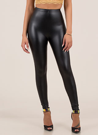 Another Coat Faux Leather Leggings