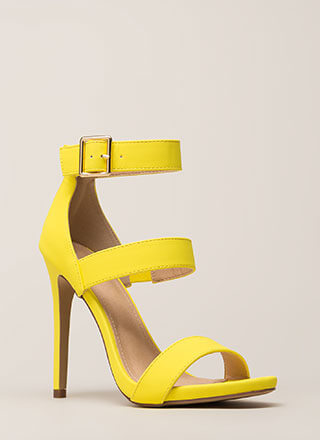 Count To Three Strappy Stiletto Heels