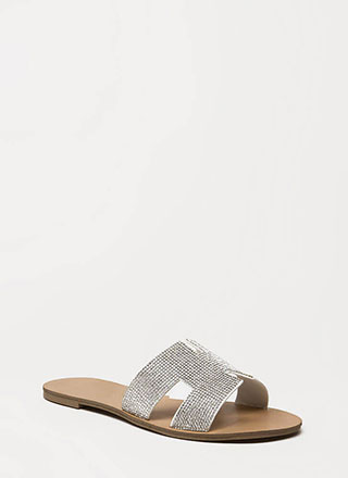 Jewel Safe Cut-Out Slide Sandals