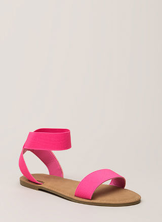 Band Together Strappy Elastic Sandals