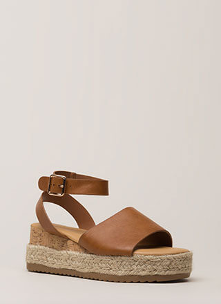 Vacationing Braided Wedge Sandals